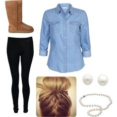 Ugg, Such a cute outfit by emmmmmmas3 on Polyvore featuring ONLY, UGG Australia, Astley Clarke and Reeds Jewelers