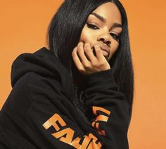 """After blowing up NYFW with her mind-blowing """"Mask Off"""" performance with Future, Teyana Taylor talks to the Ebro In The Morning crew about her """"extra"""" runway… Teyana Taylor, Pharrell Williams, Cosmopolitan, Black Girl Magic, Black Girls, Mtv, People Magazine, Dope Outfits, Beautiful Black Women"""