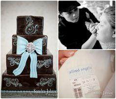 Orlando wedding cakes, Brown and blue wedding cakes, LeJeune Hair & Makeup Artistry, Orlando wedding rentals, A Chair Affair Blog
