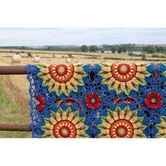 Fields Of Gold Crochet Blanket Kit by Jane Crowfoot using 13 balls of Stlyecraft Life DK