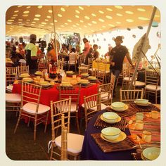 Traditional African wedding centerpieces and decor. www.facebook.com/joburgtents or SecundaTents&Events