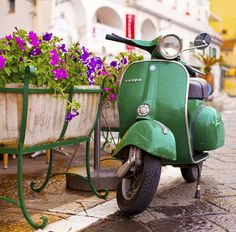 Vintage Vespa in Amalfi, Italy.  ASPEN CREEK TRAVEL - karen@aspencreektravel.com
