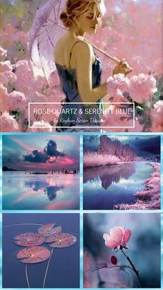 '' Rose Quartz & Serenity Blue '' by Reyhan Seran Dursun