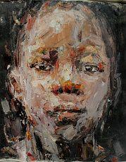 aspire by Benon Lutaaya 2013 - Mixed Media on Canvas - 123cm x 92cm