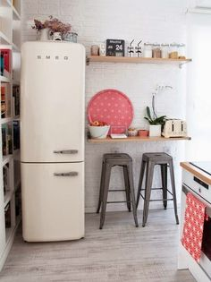 Tiny kitchen with tons of style