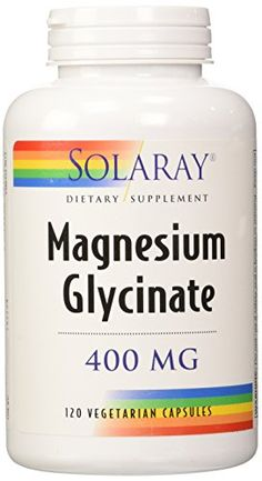 Solaray Magnesium Glycinate Dietary Supplement, 400 mg per 4 Capsules, 120 Count: Magnesium glycinate is a form of supplemental magnesium and is considered to be the most gentle form on the market. Magnesium Supplements, Magnesium Deficiency, Heavy Metal Testing, Magnesium Glycinate, Best Multivitamin, Minerals For Sale, Muscle Function, Good Manufacturing Practice