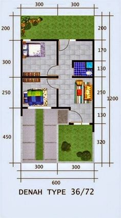 60 Latest Minimalist Home Designs Type 36 2020 Living Room Floor Plans, Small House Floor Plans, Living Room Flooring, Minimalist House Design, Minimalist Home, The Plan, How To Plan, House Built, House Layouts