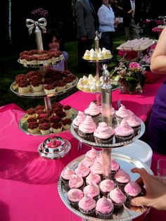 A cupcake bar...this, as the story goes, for wedding guests while they waited for the bride and groom to do photos, prior to heading to the reception. Yum!