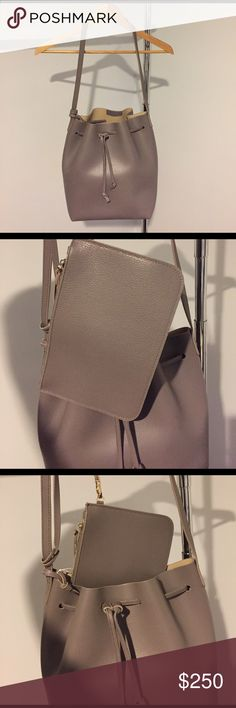 Gorgeous Italian Leather Drawstring Bucket Bag Georgeous nude color - perfect for Spring. Made in 🇮🇹 Italy. Pouch shown in photos comes with the bag and fits inside the bag for your smaller accessories (phone, wallet etc.). Quality and durable Italian leather. Make me a reasonable offer 💕 Bags Shoulder Bags