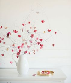 A tree of hearts <3  The perfect DIY Valentine's Day decor from The House That Lars Built blog!