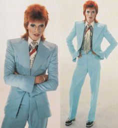 David Bowie in 1973.  Favorite song: Space Oddity.  Favorite hair color: tangerine.