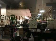 Pop up market at Groundswell Coffee Roasters.
