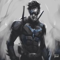 #Nightwing concept art by Huy Dinh.
