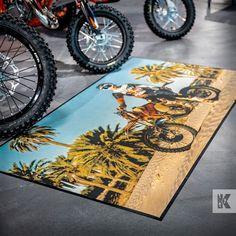 Bring the summer vibe into the showroom with photo quality printed Ad-Mats. #KleenTexEurope #bikeshop #moto #motorcycle #motorbike #motocrossracing #MakeMoreOfYourFloor Motocross Racing, World Leaders, Print Ads, Photo Quality, Summer Vibes, Showroom, Motorcycle, Print Advertising, Motorcycles