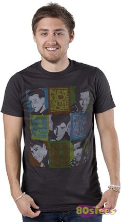 @Bess D, we might have to get for show :) This New Kids On The Block shirt features a print of the band members as well as the logo in a Brady Bunch style design.
