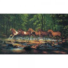 Running Horses Mural Small WL5531MMP