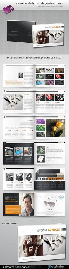 Buy Design Catalogue/Brochures by semutireng on GraphicRiver. Suitable for any type of business. Features: 14 pages Landscape Bleed 3 mm Print ready Master pages Text, Images a. Graphic Design Brochure, Brochure Design Inspiration, Brochure Layout, Layout Inspiration, Brochure Template, Design Ideas, Page Design, Book Design, Layout Design