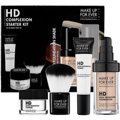 Pretty amazing and well priced kit from Sephora. I love this make up and I use color 130 Warm Ivory. MAKE UP FOR EVER HD Complexion Starter Kit : Complexion Sets Love Makeup, Makeup Kit, Sephora Makeup, Amazing Makeup, Makeup Stuff, Pretty Makeup, Makeup Cosmetics, Makeup Ideas, All Things Beauty