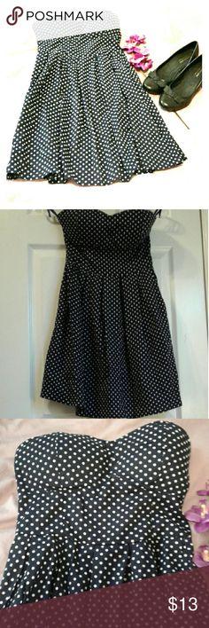9cc056b62b Cute polka dot dress Rue 21 Dark blue dress polka dot. Strapless. Brand Rue