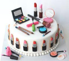 Make Up Cake by #BakedIdeas