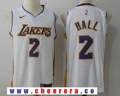 ab2715b0888 Men's Los Angeles Lakers #2 Lonzo Ball New White 2017-2018 Nike Swingman  Stitched