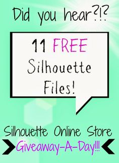 Silhouette School: 11 Free Silhouette Files in 11 Days