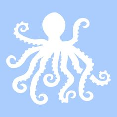 OCTOPUS STENCIL TEMPLATE flute sea ocean sealife by sunflower33