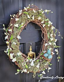 DIY Pottery Barn knockoff wreath for spring!