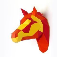 DIY Papercraft Horse Sculpture Pre-cut papercraft kit | Etsy Paper Glue, Horse Sculpture, Horse Head, Sculptures, Horses, Kit, Unique Jewelry, Handmade Gifts, Etsy