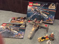 LEGO SET 7140 X-WING 1ST STAR WARS - 100% COMPLETE