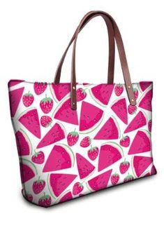76424fc4ec Women s Large Pink Watermelon Print Tote Bag. Summer HandbagsPink ...