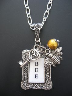 Bee Jewelry - Keeper of the Bees Pendant Necklace.