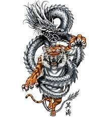 tribal tattoos, dragon and tiger - Google Search