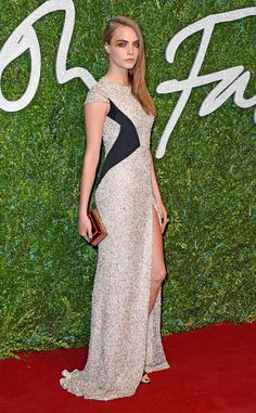 Cara Delevingne and her intense smoky eye look GORGEOUS on the red carpet at the British Fashion Awards 2014