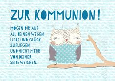 Zur Kommunion! - Doppelkarten - Grafik Werkstatt Bielefeld Wraps, Happy Birthday, Crochet Hats, Gift Wrapping, Christian, Illustration, Gifts, Diy, Inspiration