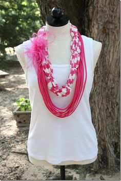 T-shirt scarves {make scarves at of old t-shirts - so neat!}