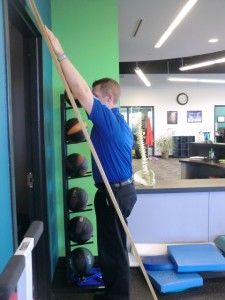 #shoulder rehab. More vertical position of the board.  This is a more advanced position. via @kcrehabexpert