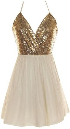 White Crossback Sequin Dress Perfect:)