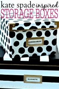 DIY Kate Spade Storage Boxes