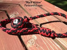 Black Widow is back in stock! #Paracordist Creations LLC - The #Paracord Billiard Ball Lanyard, $49.95 (http://www.paracordist.com/the-paracord-billiard-ball-lanyard/)
