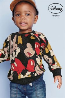 Grey Mickey Mouse™ Crew Neck Jumper (3mths-6yrs)