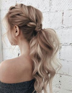 # loose Braids curly 99 Spectacular French Braid Hairstyles Ideas You Must Try Now Loose French Braids, Loose Braids, Braids For Long Hair, Loose Ponytail, French Braid Into Ponytail, Braids Into Ponytail, Fancy Braids, Braids Easy, Braids For Prom