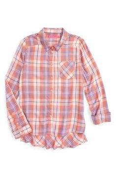 Fire Plaid Woven Shirt (Big Girls)