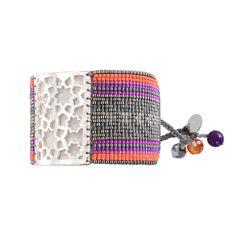 Bilezik Star Flower Grey Fuchsia Purple - Mishky - Brazilian Bikini Shop #brazilianbikinishop #BBSFashion #mishky