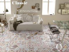 La casa va vissuta, come la vita! / Home has to be lived as life! / #livingroom #ceramic #tiles #madeinitaly