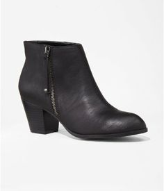 Perfect Fall Ankle Boot: SIDE ZIP BOOTIE | Express