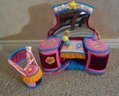 GROOVY GIRLS PLUSH TOY VANITY MAKE UP MIRROR CHAIR FURNITURE MANHATTAN TOYS 2001 in Dolls & Bears   eBay