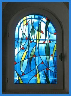 fenestron moderne, le vitrail pour les fenêtres,Le vitrail dans la maison, Vitrail et Vitraux
