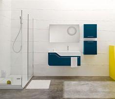 Une double #vasque blanc mat et un meuble sous-vasque de finition ...