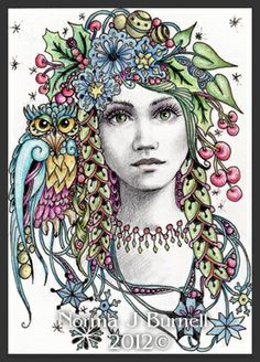 Winter Solstice Fairy Tangles By Norma J Burnell